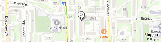 КСК на карте Калининграда