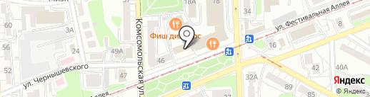 Калининградская книга на карте Калининграда