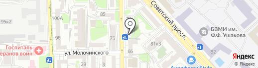 Спортаптека 38 на карте Калининграда