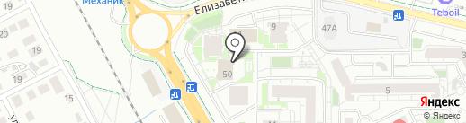Школа греко-римской борьбы на карте Калининграда