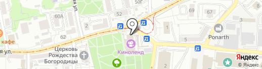 Гермес на карте Калининграда