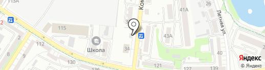 Магазин игрушек и канцелярских товаров на карте Калининграда