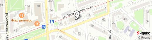 Шафрат и Бордос на карте Калининграда