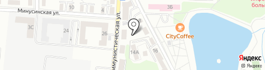 Летний сквер на карте Калининграда