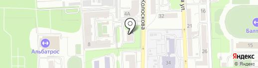 Альма-Матер на карте Калининграда