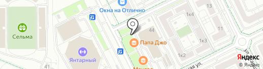 Вилла Ченто на карте Калининграда