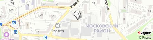 Фоксис на карте Калининграда