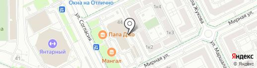 Слон на карте Калининграда