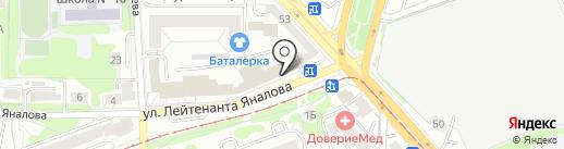 Бертолони на карте Калининграда