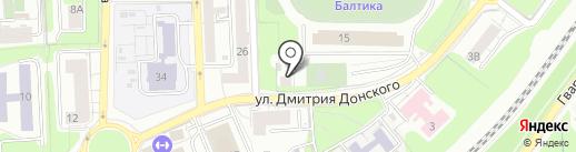 Балтика на карте Калининграда