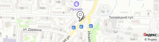 Нафаня на карте Калининграда