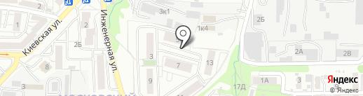 Инженерный на карте Калининграда