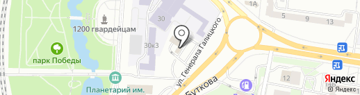 Лимузин на карте Калининграда
