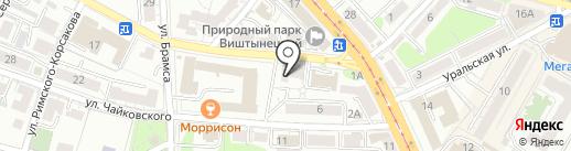 Пряничный домик на карте Калининграда