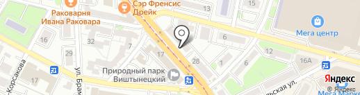 Воин на карте Калининграда