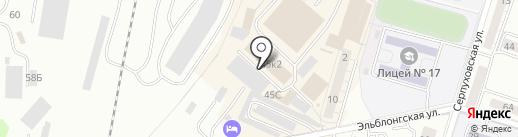 Тахмина на карте Калининграда