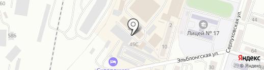 Бериляка на карте Калининграда