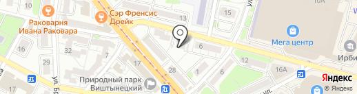 ФАБРИКА СВЕТА на карте Калининграда