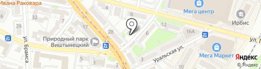 Мастерская по ремонту одежды на карте Калининграда