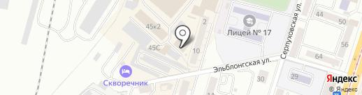 Надежда на карте Калининграда