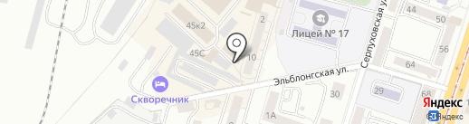 Магазин штор и тюля на карте Калининграда