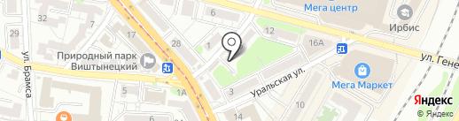 Ирина на карте Калининграда