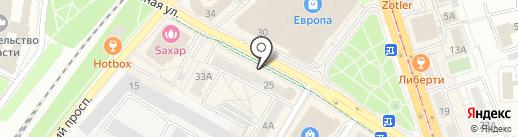 Коffейник на карте Калининграда