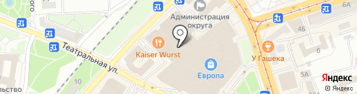 Айвел на карте Калининграда