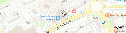 Дизайн-Текстиль на карте Калининграда