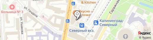 Уголовно-исполнительная инспекция на карте Калининграда