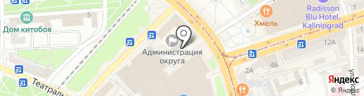 Баклажан на карте Калининграда