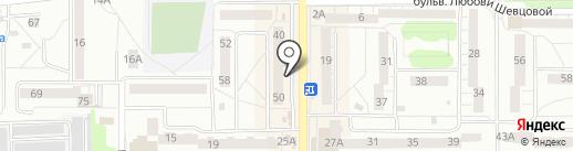 Пава на карте Калининграда