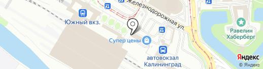 БАЛИ на карте Калининграда