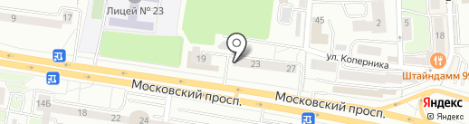 CLEAN KIWI на карте Калининграда