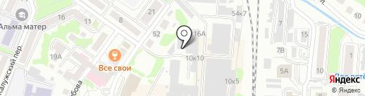 DANCE STUDIO 54 на карте Калининграда