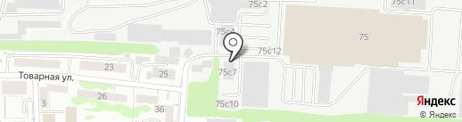 Рублевка на карте Калининграда