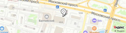 Магазин строительных материалов на карте Калининграда