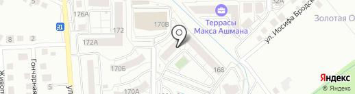 Хуторок на карте Калининграда