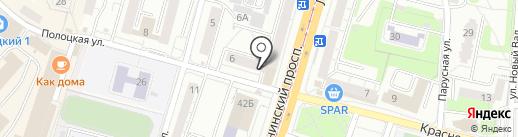 Лувр на карте Калининграда
