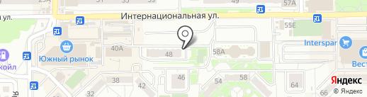Февраль строй на карте Калининграда