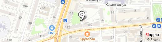Киоск по продаже хлебобулочных изделий на карте Калининграда