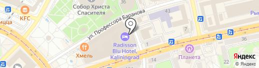 Магазин бижутерии и сувениров на карте Калининграда