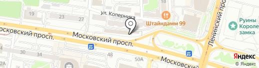 Калининградская централизованная библиотечная система, МАУ на карте Калининграда