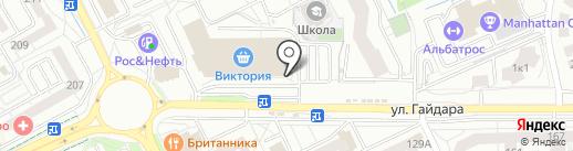 Весна на карте Калининграда