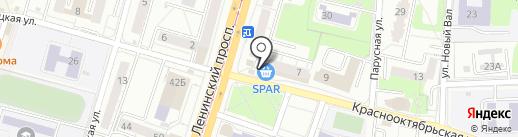 Банкомат, Райффайзенбанк на карте Калининграда