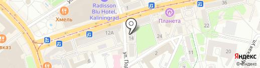 Стиль одежды на карте Калининграда