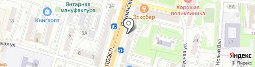 Банкомат, Почта Банк, ПАО на карте Калининграда
