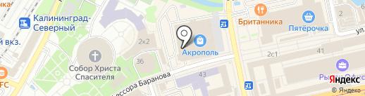 Студия кухонной мебели на карте Калининграда
