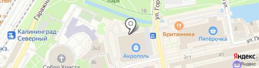 Обручальный остров на карте Калининграда