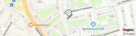 Венера на карте Калининграда